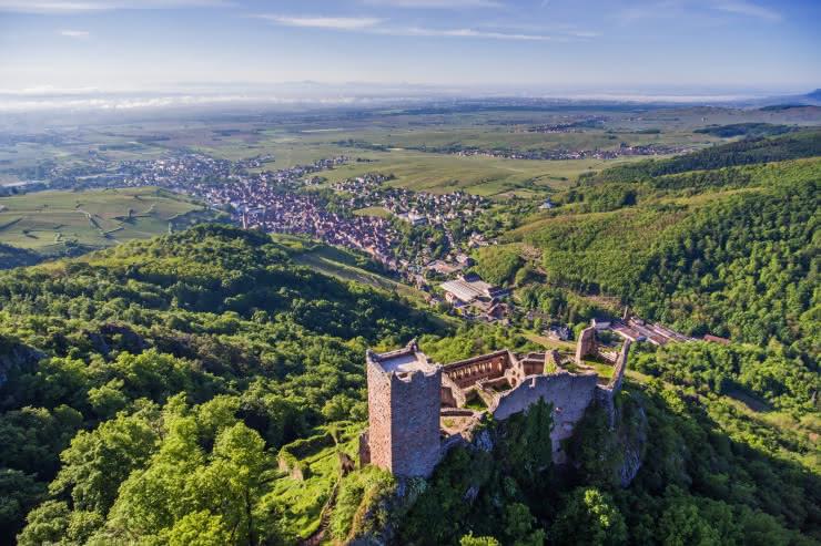 Ribeauvillé et le château Saint-Ulrich